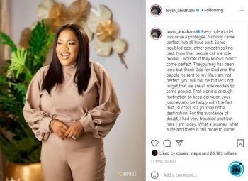 'I had a very troubled past' Toyin Abraham speaks on her journey to fame